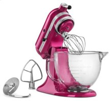 Artisan® Design Series 5 Quart Tilt-Head Stand Mixer with Glass Bowl - Raspberry Ice