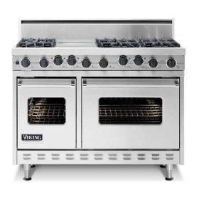 "Sea Glass 48"" Sealed Burner Self-Cleaning Range - VGSC (48"" wide range with 6 burners; 12""W. grill)"