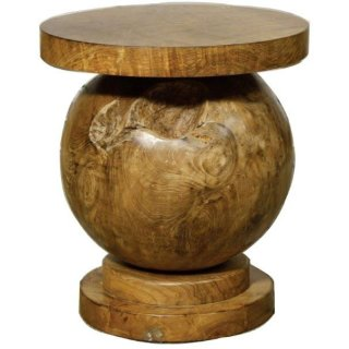 Rocco Ball Stool, Natural