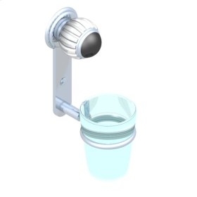 Wall Mounted Glass Tumbler and Holder