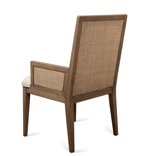 Mirabelle - Cane Upholstered Arm Chair - Ecru Finish