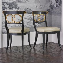 Dolphin Chair - Black / Gold