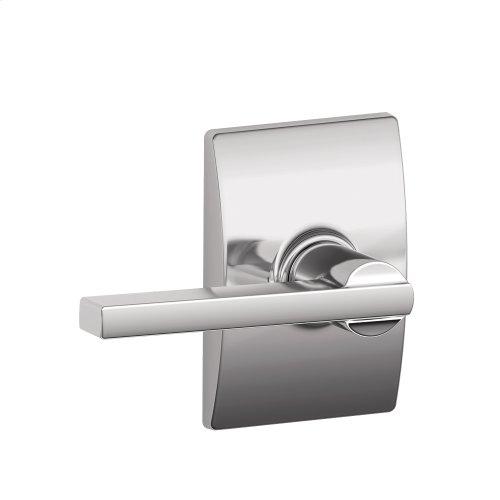 Latitude lever with Century trim Hall & Closet lock - Bright Chrome