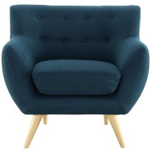 Remark Upholstered Fabric Armchair in Azure