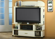 TV STAND - CHAMPAGNE / BRASS / FLAT SCREEN TV