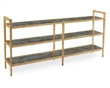 Lunar Three-Tier Console in Gold