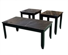 Faux Black Coffee and End Table Set