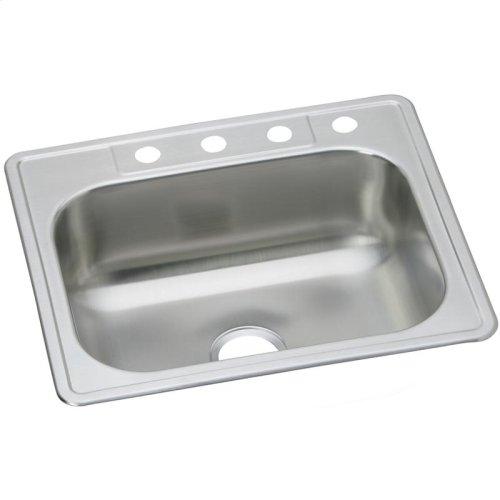"Dayton Stainless Steel 33"" x 22"" x 8-1/16"", Equal Single Bowl Drop-in Sink"