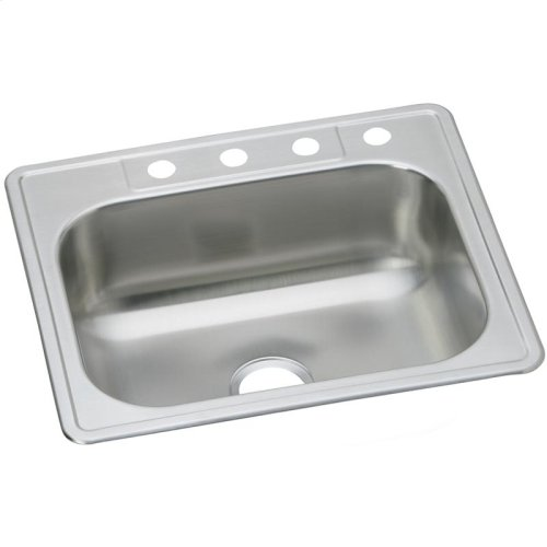 "Dayton Stainless Steel 33"" x 22"" x 8-1/16"", Equal Single Bowl Drop-in Sink"