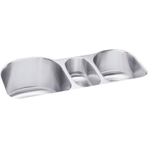 "Elkay Lustertone Classic Stainless Steel 39-1/2"" x 20"" x 10"", Triple Bowl Undermount Sink Kit"