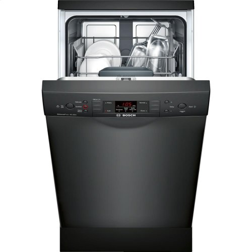 """18"""" Special Application Recessed Handle Dishwasher 300 Series- Black"""
