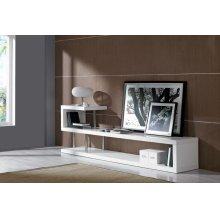 Modrest WIN 5 Modern White Lacquer TV Stand