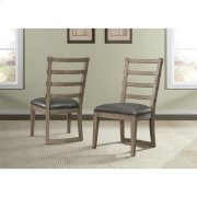Precision - Upholstered Ladderback Side Chair - Gray Wash Finish Product Image