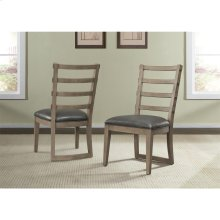 Precision - Upholstered Ladderback Side Chair - Gray Wash Finish