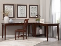 """60"""" Writing Table Espresso (Shown in corner configuration with OF581-41 & OF581-63) Product Image"""
