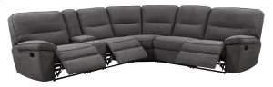 6pc Sectional-lsf & Rsf Recliner-al Recliner-al Chair-wedge-console-charcoal#k2080-3