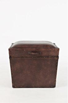 Global Archive Leather Storage Chest