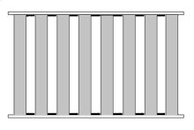 Queen Bed Slats (8 Slats Total)