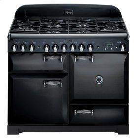 "Black with solid doors AGA Legacy 44"" Dual-Fuel Range"
