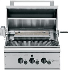 """GE Monogram® 27"""" Outdoor Cooking Center with 2 Grill Burners and Rack (Natural Gas)"""