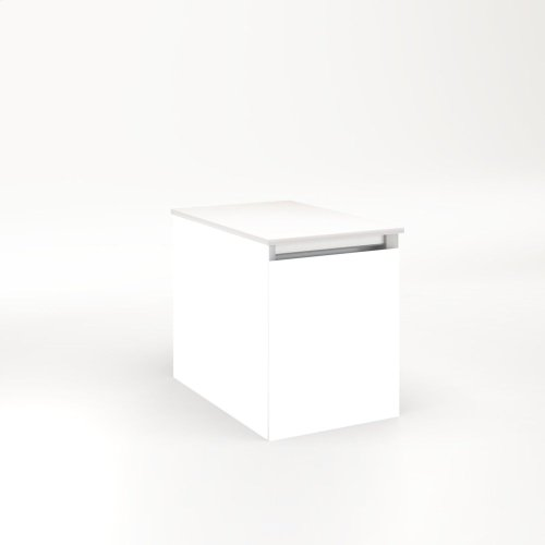 """Cartesian 12-1/8"""" X 15"""" X 18-3/4"""" Single Drawer Vanity In White With Slow-close Full Drawer and No Night Light"""