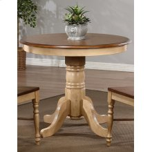 DLU-BR3636-PW  Round Pedestal Dining Table