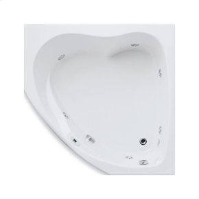 "Easy-Clean High Gloss Acrylic Surface, Corner, Whirlpool Bathtub, Standard Package, 55"" X 55"""