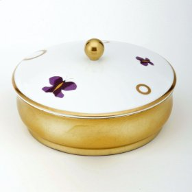 Chinese Lacquer Plated Box With Porcelain Cover Big Size
