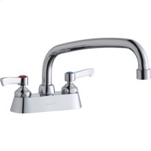 """Elkay 4"""" Centerset with Exposed Deck Faucet with 10"""" Arc Tube Spout 2"""" Lever Handles"""