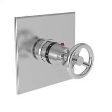 """Forever Brass - PVD 3/4"""" Square Thermostatic Trim Plate with Handle"""