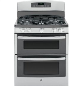 "GE® 30"" Free-Standing Gas Double Oven Range"