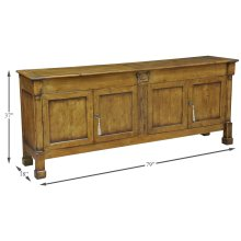 Caracoly Credenza, Fruitwood