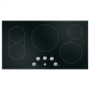 "Cafe AppliancesCaf(eback) 36"" Built-In Knob Control Electric Cooktop"