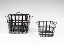 Grocery Baskets S/3 Iron Raw Steel