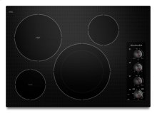 """30"""" Electric Cooktop with 4 Radiant Elements - Black"""