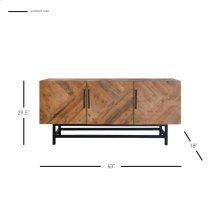 Imola Sideboard 3 Doors, Harbour Brown