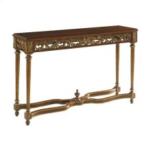 CONSOLE TABLE WITH CARVED ACCENTS