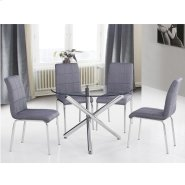 "Solara II 5pc 40"" Dining Set in Grey Product Image"