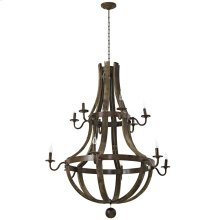 Trebuchet Wood Chandelier in Brown