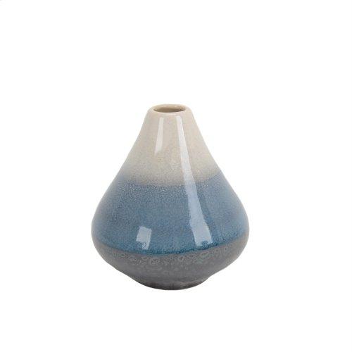 "Gray/blue/white Layered Vase 5"""