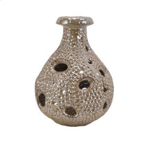 Decorative Ceramic Sea Urchin Vase, Beige