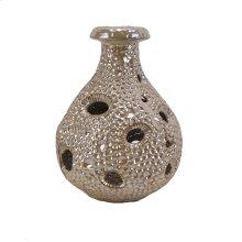 Decorative Ceramic Sea Urchin Vase, Beige