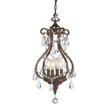 Antique Brown Jeweled Lantern Chandelier. 25W Max.
