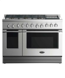 """48"""" Dual Fuel Range: 6 Burners With Grill"""