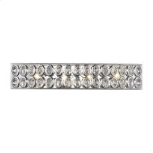 Tessa 4-Light Vanity Sconce in Polished Chrome with Clear Crystal