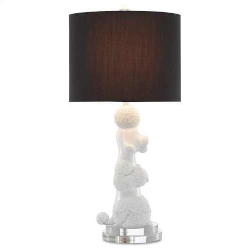 Ms. Poodle White Table Lamp