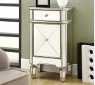 """ACCENT CHEST - 29""""H / BRUSHED SILVER WITH MIRROR Product Image"""