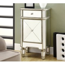 """ACCENT CHEST - 29""""H / BRUSHED SILVER WITH MIRROR"""