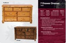 7 Drawer Dresser-Traditional