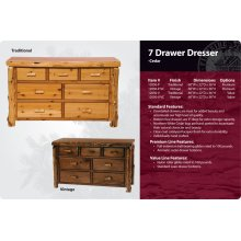 7 Drawer Dresser-Traditional